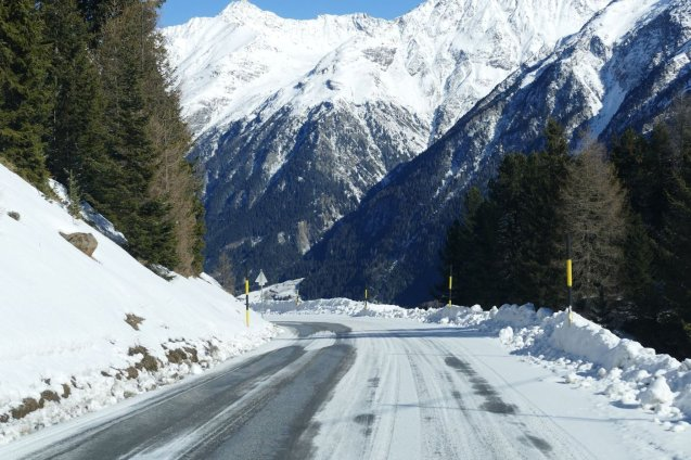 Testing our All-season tyres on the first part of Otztal Glacier Road. See more.