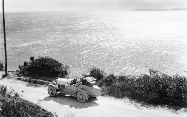 The Retromobile show which kicks of the vintage car season in Paris today also features an exhibition by photographer and artist Jacques Henri Lartigue. His evocative 'Mediterranean Sea, 12 September 1927', above, certainly set off one fevered imagination with 2013's 'Amilcar and Bugatti. Tied in a fatal embrace.'