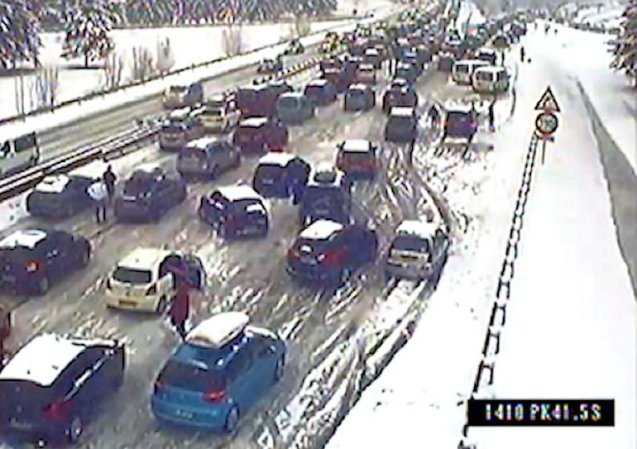 Alps' Black Saturday 2015, 23 February: massive queues on A43 as a snow dump coincided with heavy holiday traffic. Delays compounded as drivers pulled over to fit snow chains, blocking access to snow ploughs. See more.