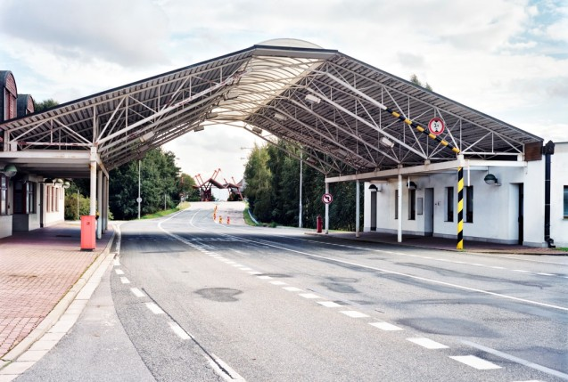 The Slavonice-Fratres border crossing from 'After Schengen' by Ignacio Evangelista.