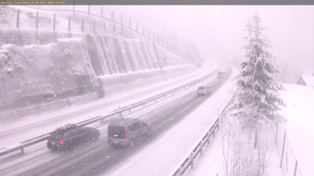 Switzerland: the A2 heading south to the Gotthard Tunnel via TCS.