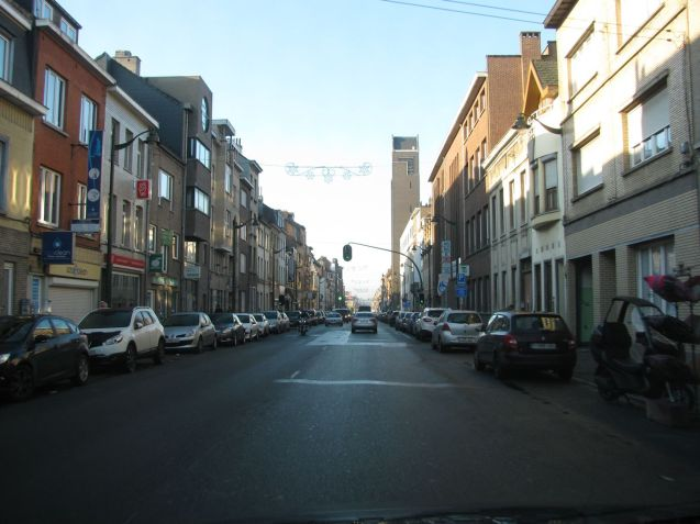 Driving through the notorious Brussels suburb of Molenbeek. More later.