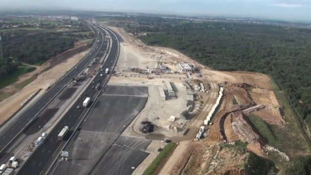 An update on A9 at Montpellier - France's biggest and dustiest motorway project. More later.