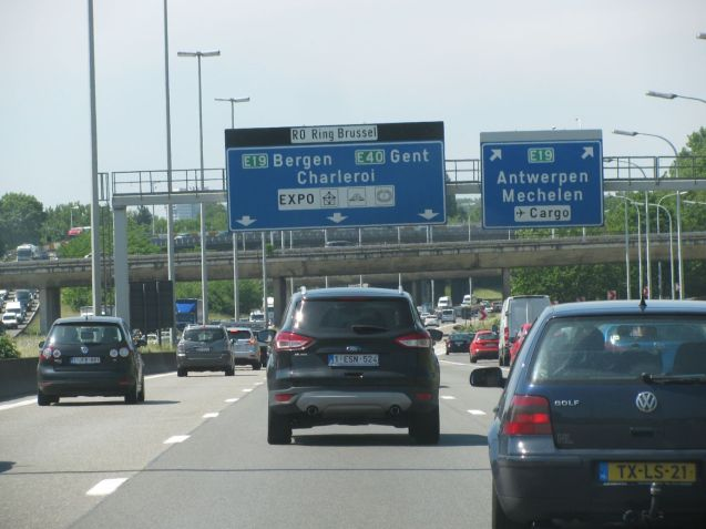 Jams were dow in Brusselsand in Belgium overall though it is still Europe's most congested country. Photo @DriveEurope