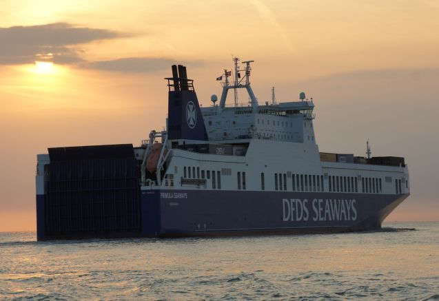 DFDS primula Seaways, one of the ships use don the Immingham-Brevik route. Photo DFDS Seaways
