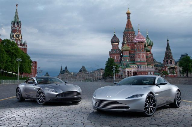 Aston Martin flew over its new DB11 and the James Bond DB10 to mark the opening of its first dealership in Russia, on Moscow's dealer mile Volgogradsky Prospekt south east of the city centre. Photo @AstonMartin