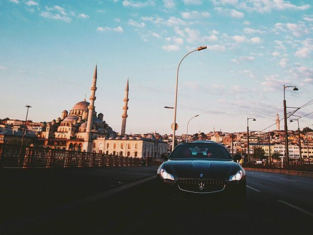 Maserati on the Bosphorus - see more at #Quattroporte. Photo @Maserati