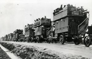 Due to technical trouble, the former London Transport 'Battle Bus' has not been able to make its planned tour of the Battle of the Somme front line this week. Instead, the 102 year old B2737 – one of 900 such vehicles used to transport troops – is on display at Albert-Picardie airport, not far from Thiepval, site of the commemorations today to mark 100 years since the beginning of the battle. The five month conflict claimed more than one million lives including 19,240 Allied soldiers on the first day alone. B2737 is normally on display at the London Transport Museum in Covent Garden. Follow along at @LTMBattleBus