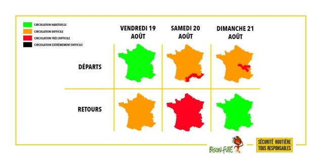 Busy but not exceptional return traffic had been forecast for France this weekend, but now looks optimistic.